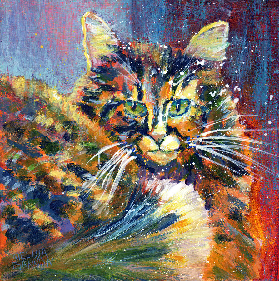 Kitty Painting - Highness by Melissa Gannon