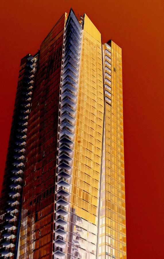 Vancouver Digital Art - Highrise High by Randall Weidner