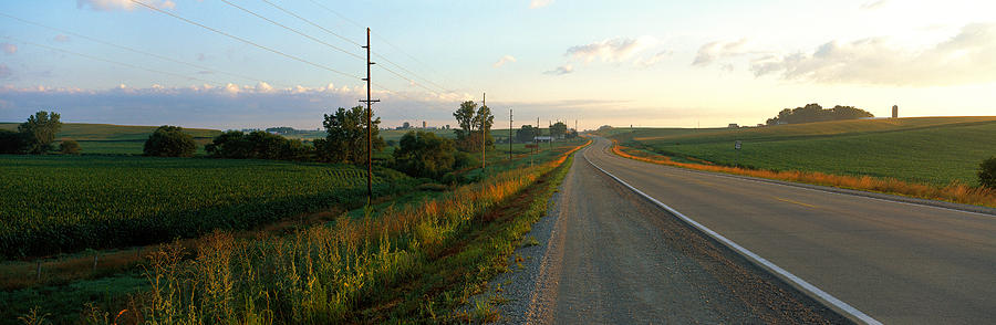 Color Image Photograph - Highway Eastern Ia by Panoramic Images