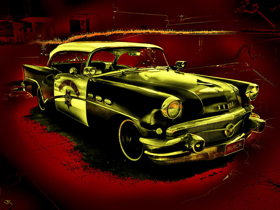 Highway Digital Art - Highway Patrol by John Monteath