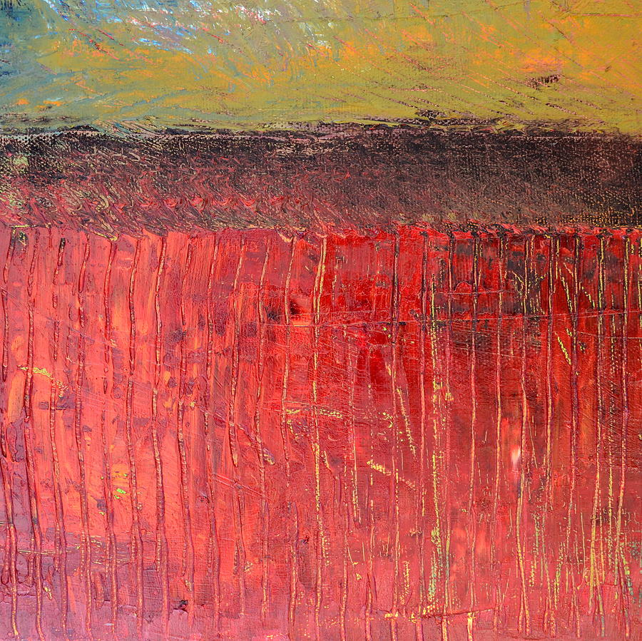 Abstract Expressionism Painting - Highway Series - Cranberry Bog by Michelle Calkins