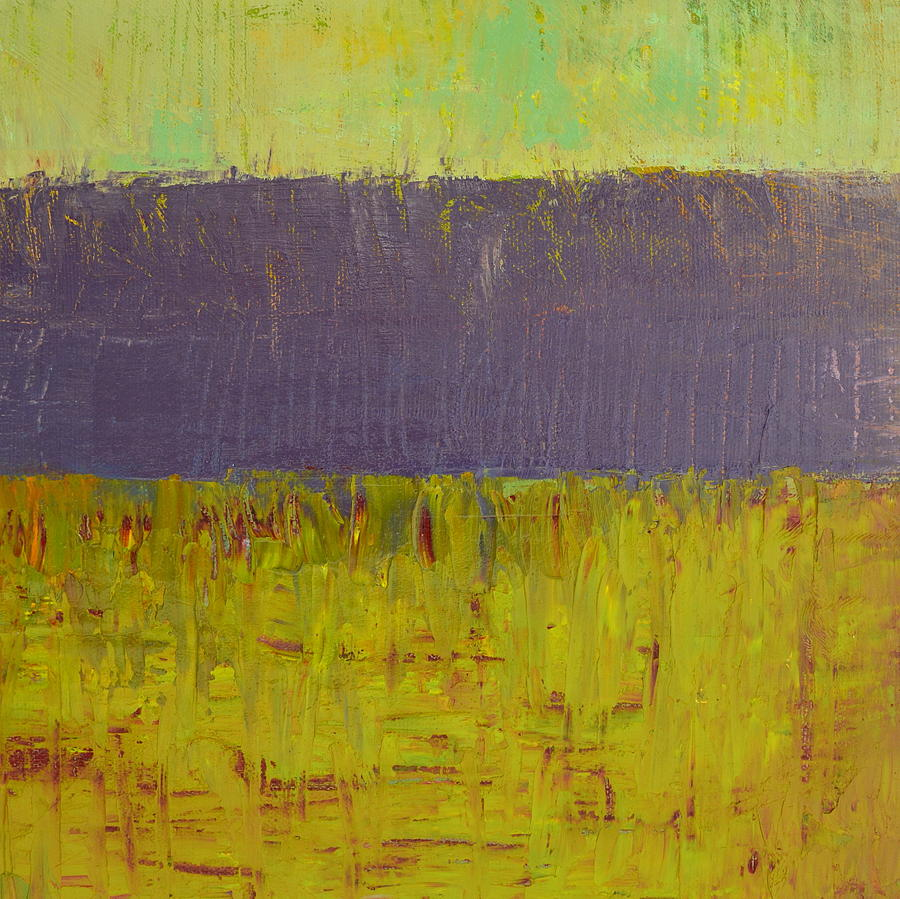 Abstract Expressionism Painting - Highway Series - Lake by Michelle Calkins