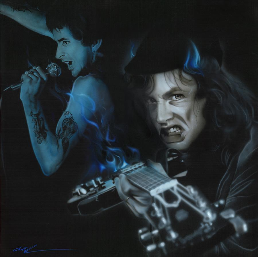 Acdc Painting - Highway to Bon by Christian Chapman Art