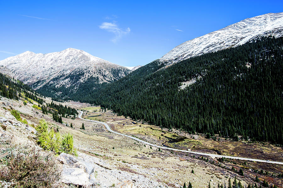 Highway To Independence Pass Near Photograph by Jordan Siemens