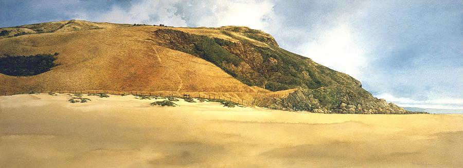 Seascape Painting - Hikers Delight by Tom Wooldridge