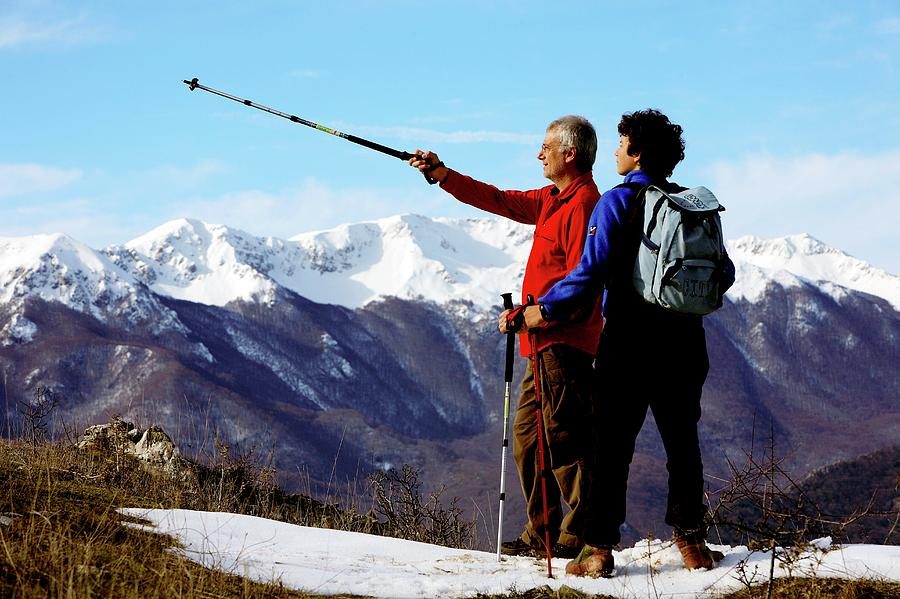 Human Photograph - Hikers by Mauro Fermariello/science Photo Library