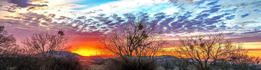 Panorama Photograph - Hill Country Sunset by Wally Taylor