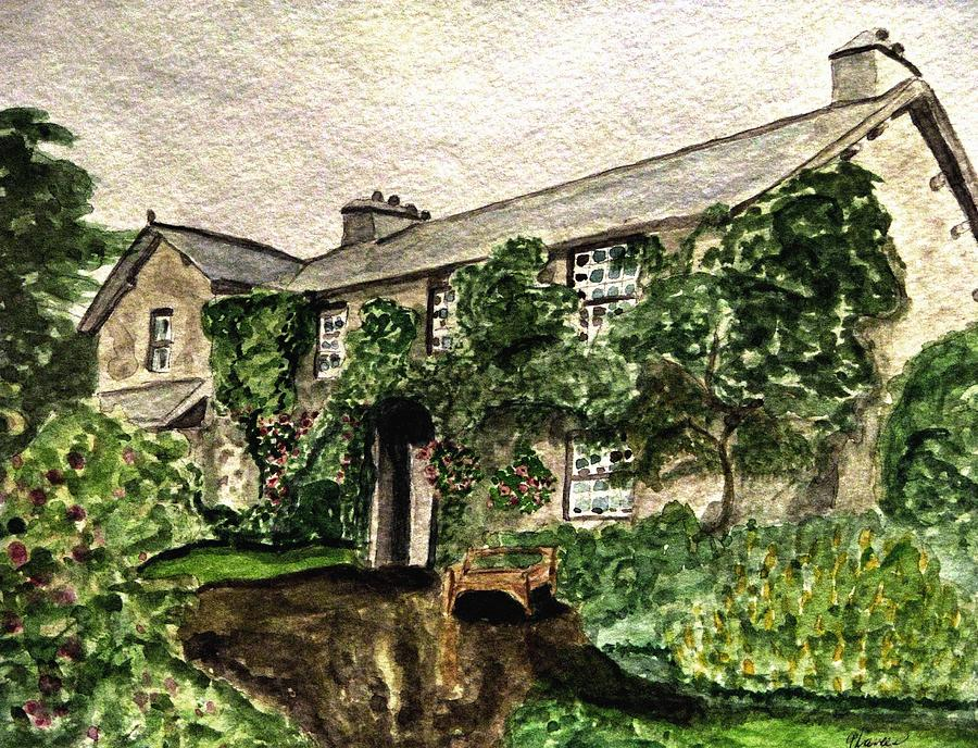 Hill Top Farm Home Of Beatrix Potter Painting by Angela Davies