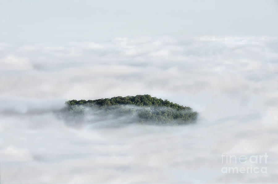 Hill Photograph - Hill Top Island In The Clouds by Dan Friend