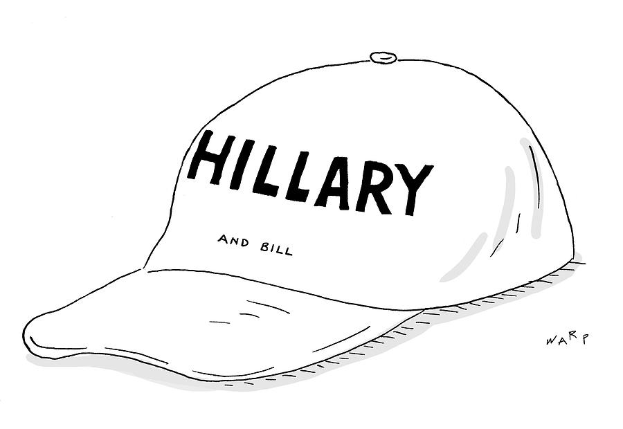 Hillary And Bill Drawing by Kim Warp