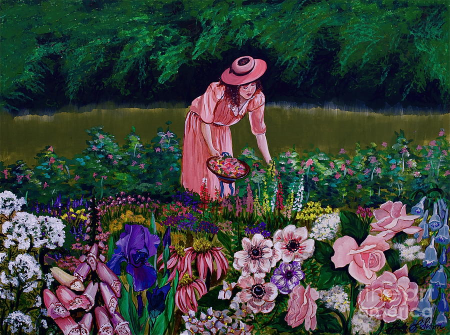 Garden Painting - Hillarys Garden by Linda Simon