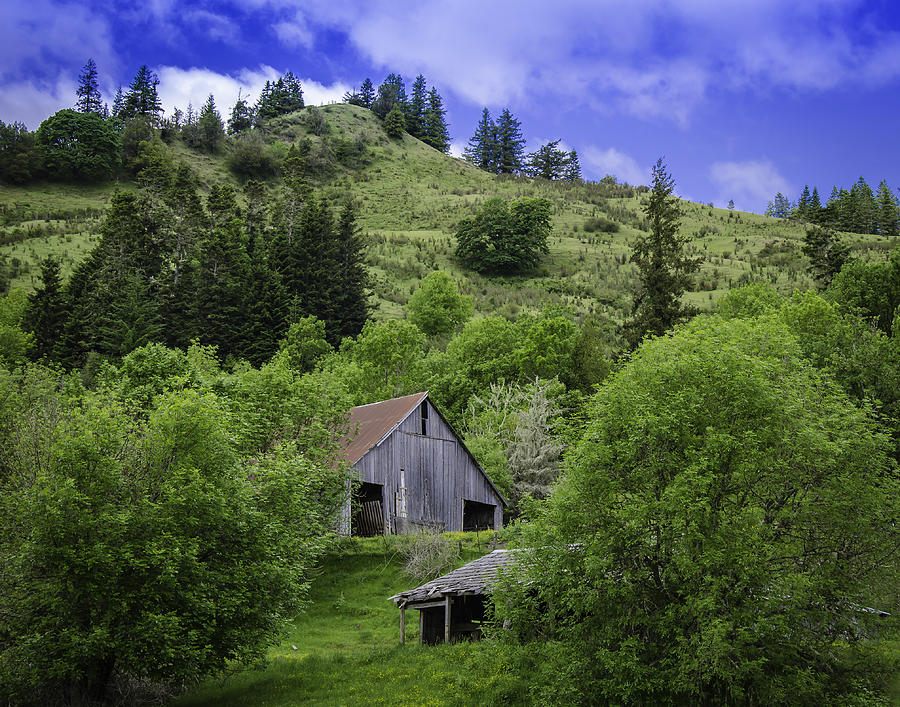 Chris Malone Photograph - Hillside Barn by Chris Malone