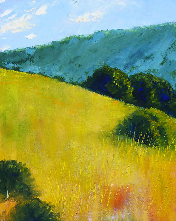 Oregon Painting - Hillside Prairie by Nancy Merkle