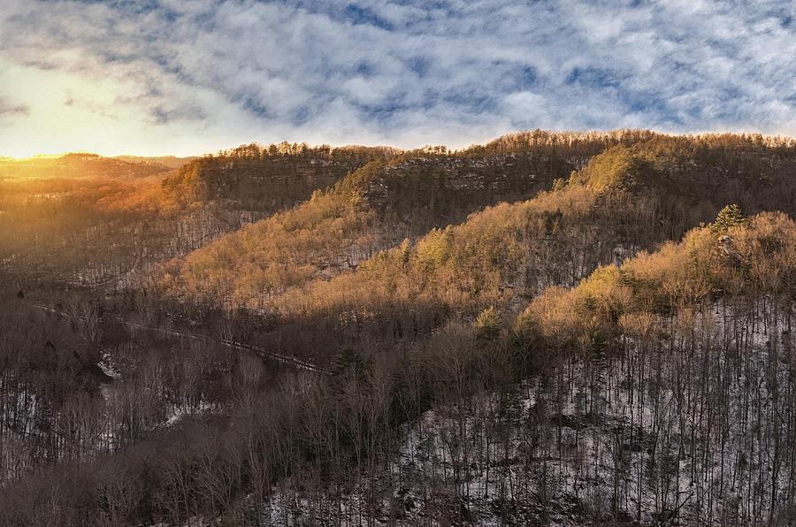 Winter Photograph - Hillside Sunset by Diana Boyd
