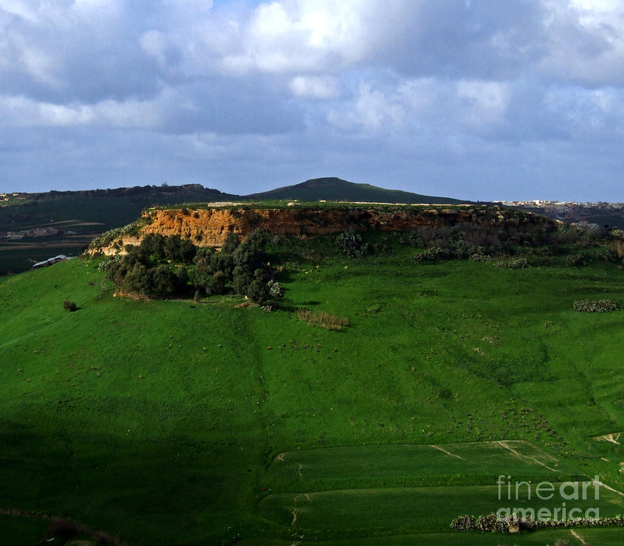 hilltop in Gozo by Mary Attard