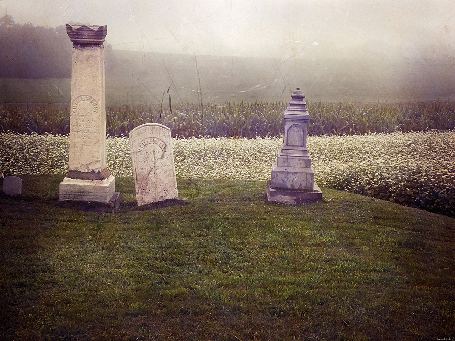 Funerary Photograph - Hilltop by Steven  Michael