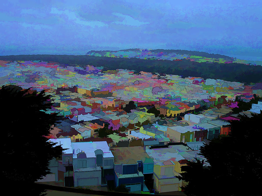 San Francisco Photograph - Hilltop View by Bobbi Mercouri
