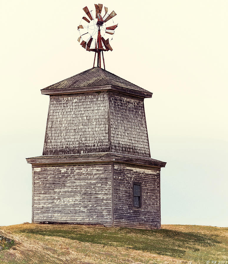 Architecture Photograph - Hilltop Windmill by Richard Bean