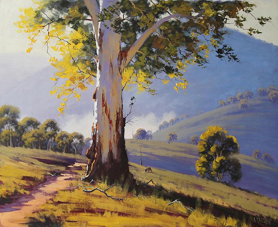 Central Tablelands Painting - Hilly Australian Landscape by Graham Gercken