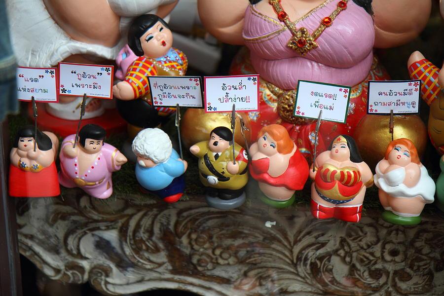 Thailand Photograph - Hilter Doll - Piazza Palio - Khaoyai Thailand - 01131 by DC Photographer