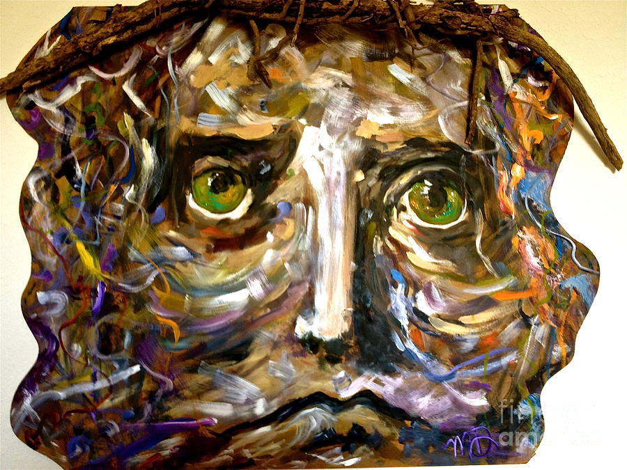 Christ Painting - Him by Michelle Dommer