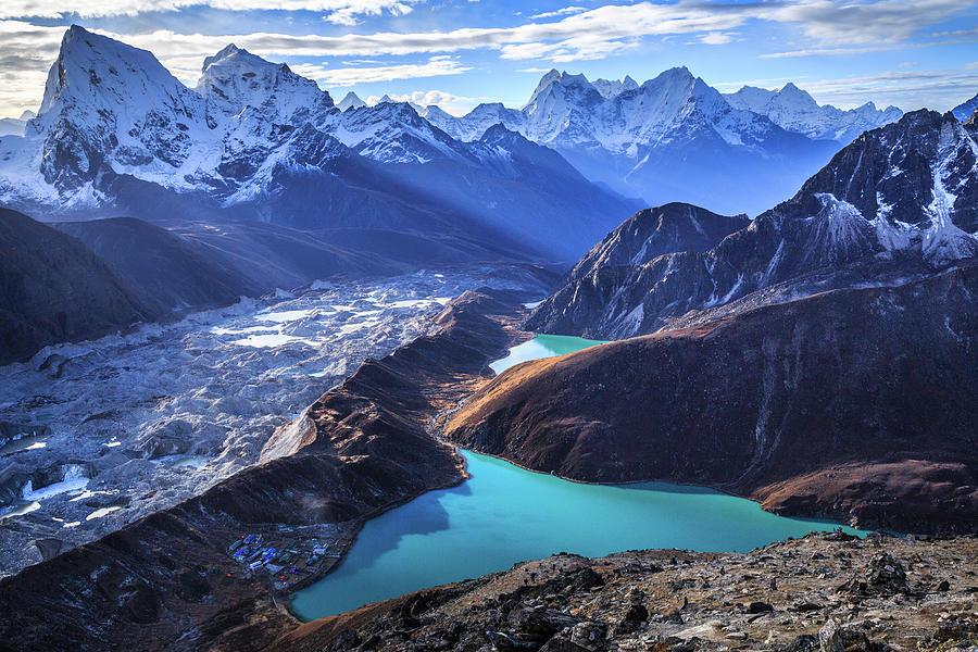 Himalaya Landscape, Gokyo Ri Photograph by Feng Wei Photography