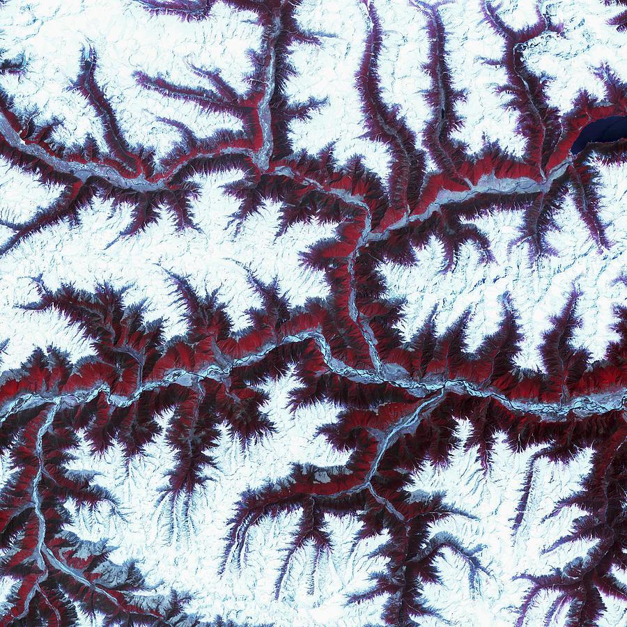 3scape Photos Photograph - Himalayas by Adam Romanowicz