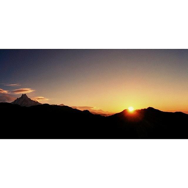 Beautiful Photograph - #himalayas #annapurna #sunrise by Raimond Klavins