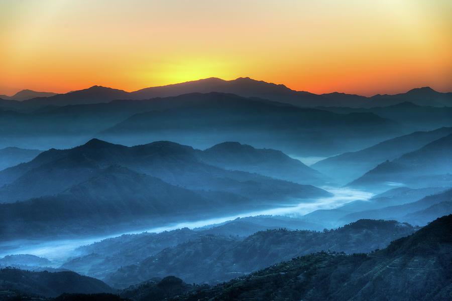 Himalayas Sunrise, Nepal Photograph by Emad Aljumah