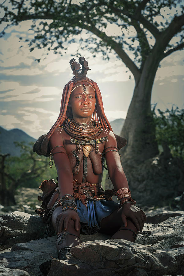 Himba Woman With Traditional Hair Dress Photograph by Buena Vista Images