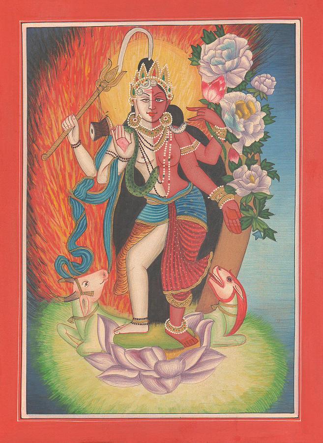 Hindu God Shiva Shakti Shankar Goddess Parvati Art Gallery India Traditional Painting Artwork By A K Mundhra