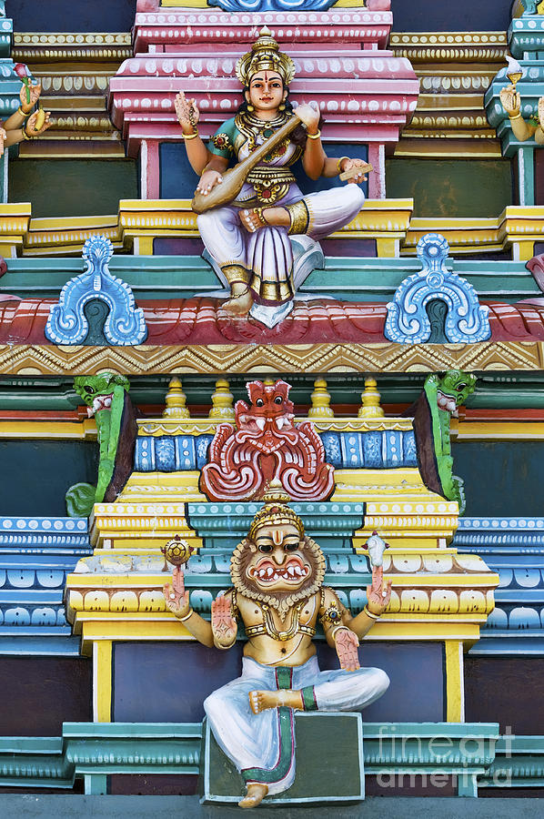Gods Photograph - Hindu Temple Deity Statues by Tim Gainey