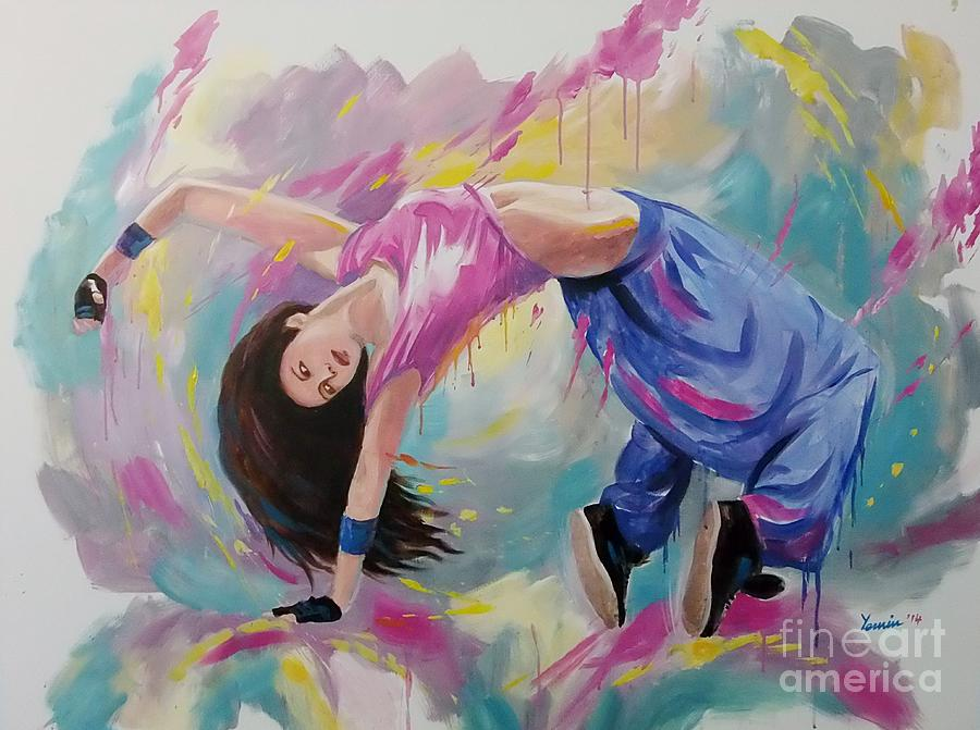 Hip Hop Dancer Painting By Ye Htut
