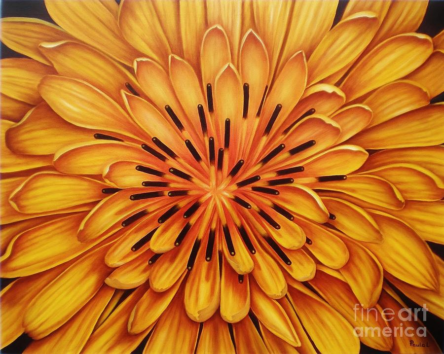 Flower Painting - Hipnose by Paula Ludovino