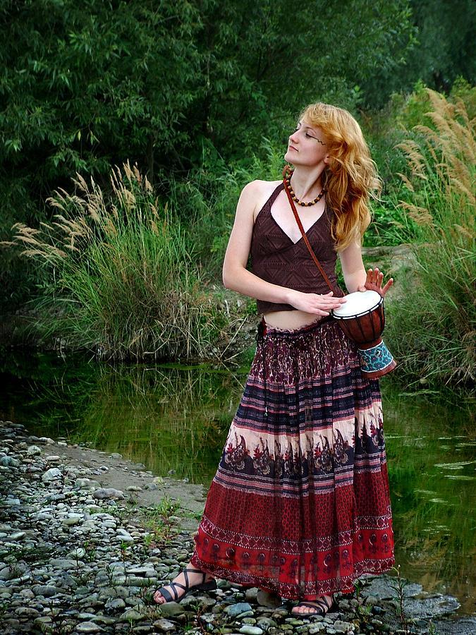 Hippie Girl Photograph by Pavlo Kuzyk