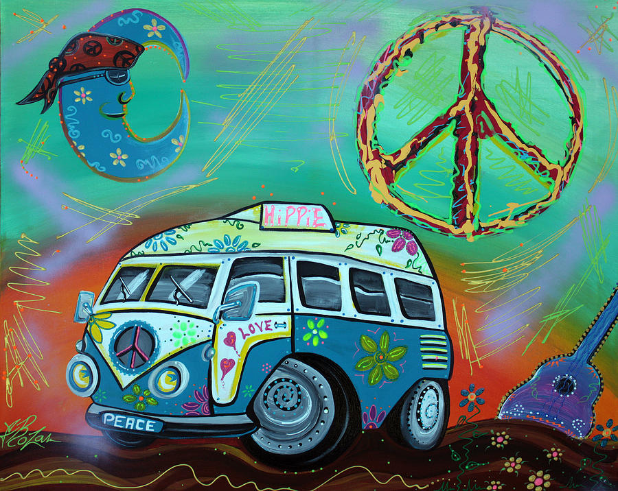 Hippie Trip Painting By Laura Barbosa