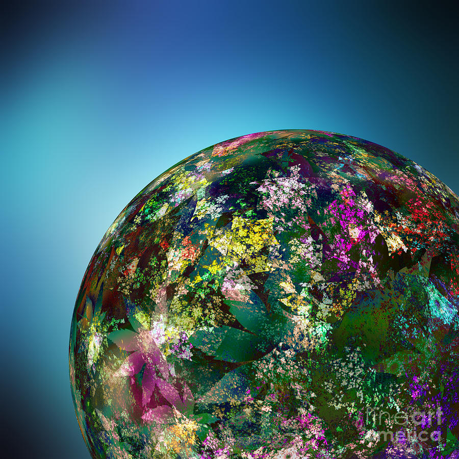 Hippy Digital Art - Hippies Planet 2 by Klara Acel