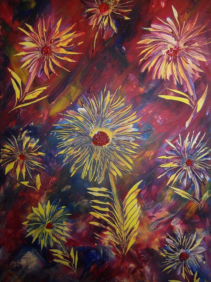Nico Painting - Hippy Flowers by Nico Bielow