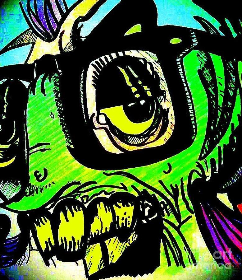 Hipster fish drawing by smash art for Davy jones locker fishing