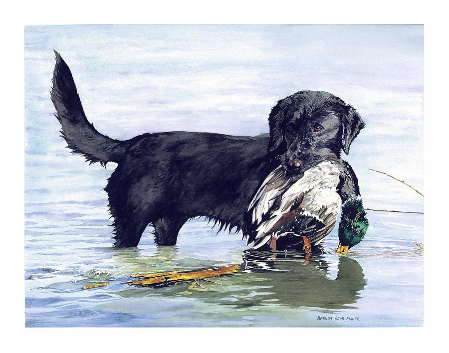 His First Catch Painting by Brenda Beck Fisher
