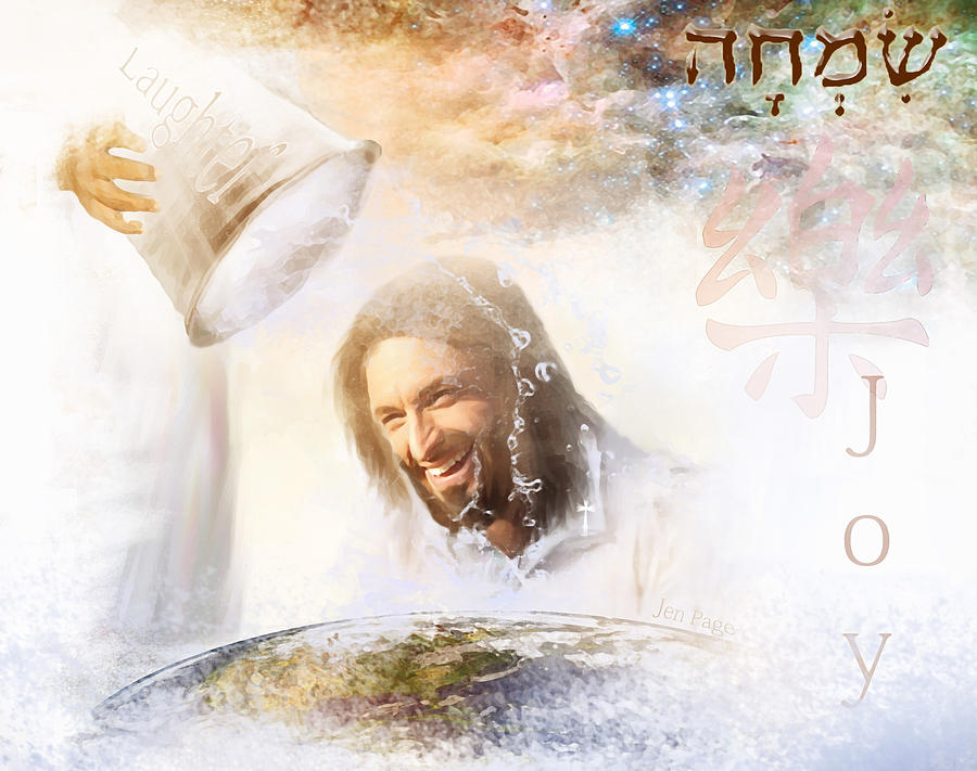 Jesus Painting - His Joy by Jennifer Page