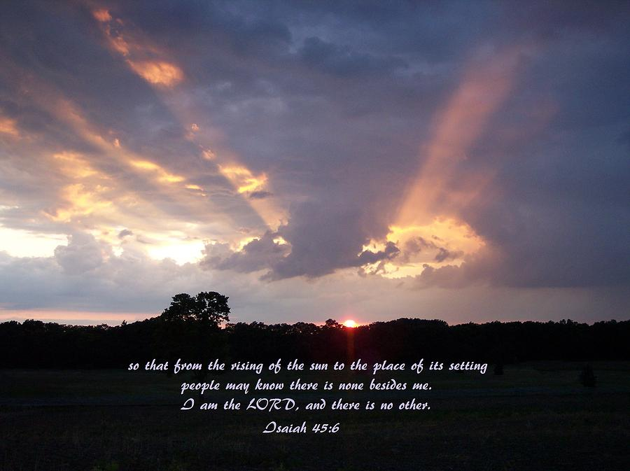 Sunset Photograph - His Light by Tammy Davis