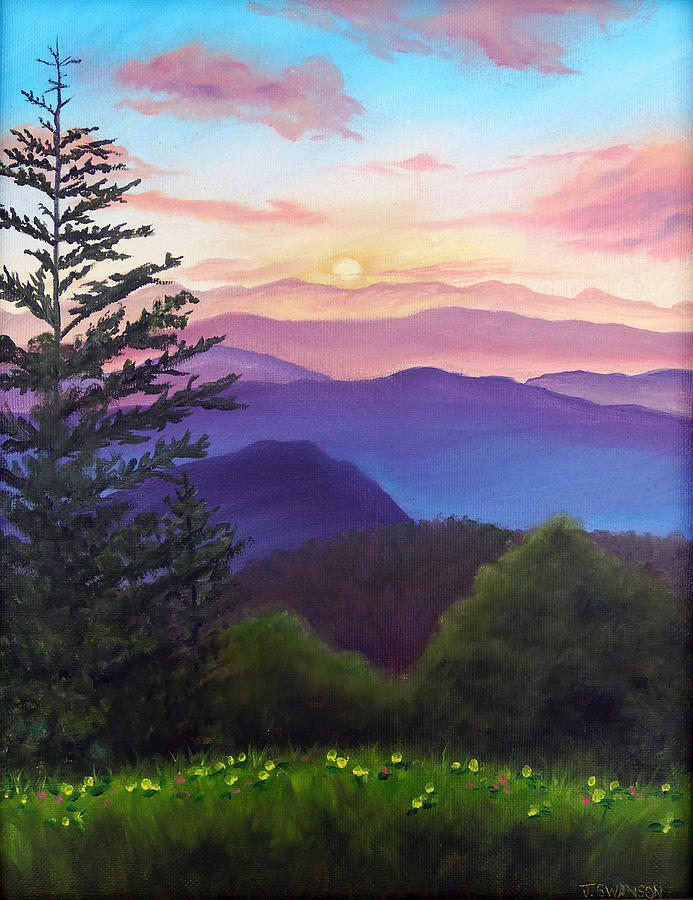 Great Painting - His Mercies Are New Every Morning by Joan Swanson