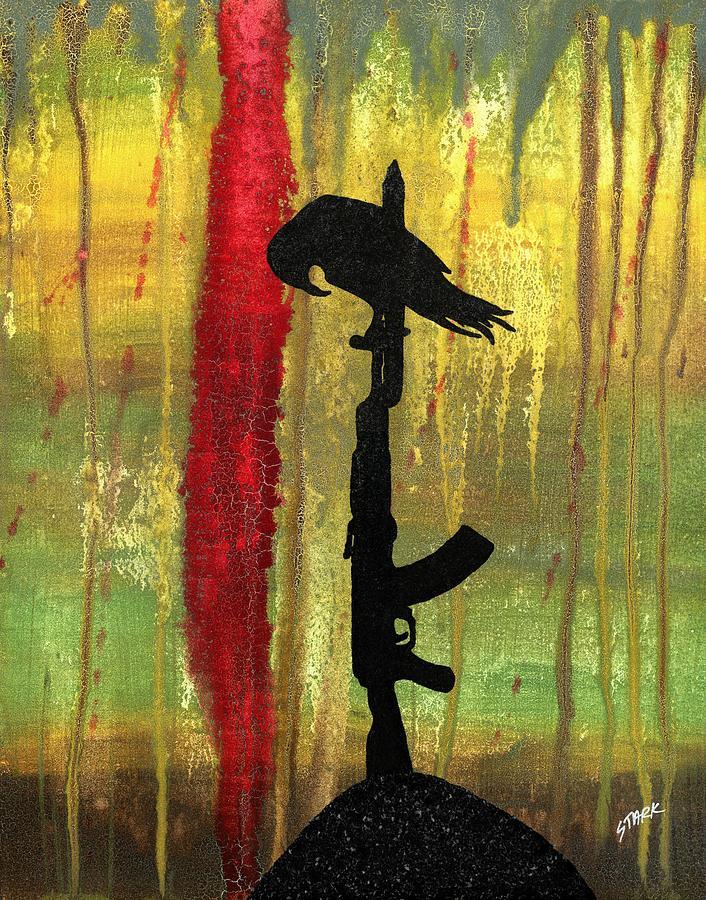 Bird Painting - His Senseless Trial Of Strength by Jim Stark