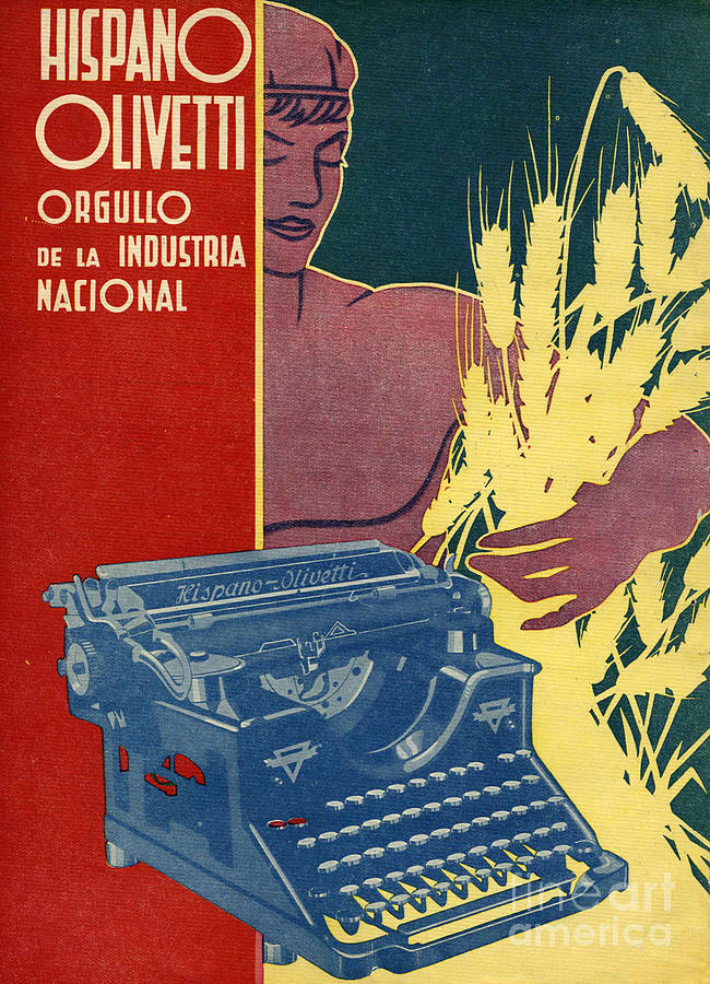 1930�s Drawing - Hispano Olivetti 1936 1930s Spain Cc by The Advertising Archives