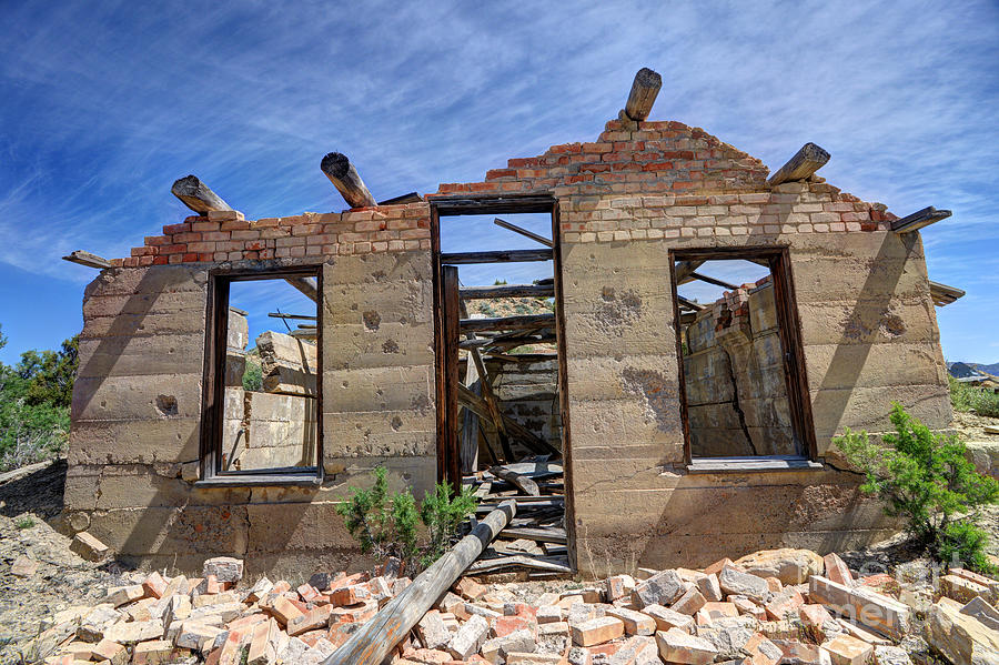 Historic Photograph - Historic Building Nine Mile Canyon - Utah by Gary Whitton