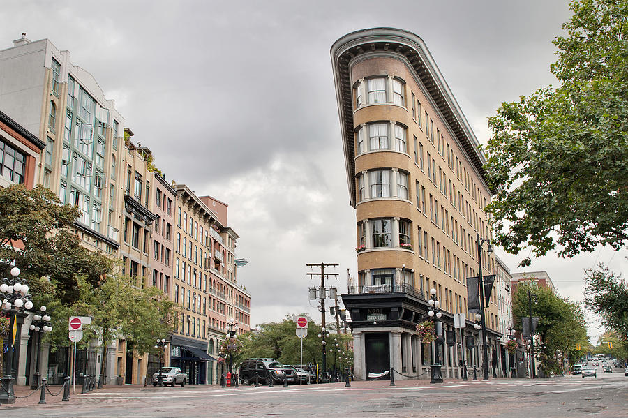 Historic Photograph - Historic Buildings In Gastown Vancouver Bc by David Gn