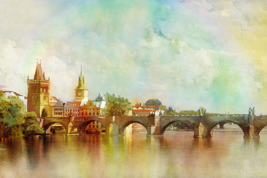 Historic Centre Of Prague  Painting by Catf
