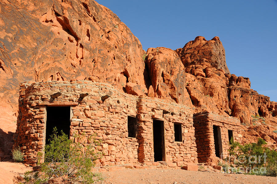 Civilian Conservation Corps Photograph - Historic Civilian Conservation Corps Stone Cabins In The Valley Of Fire by Gary Whitton
