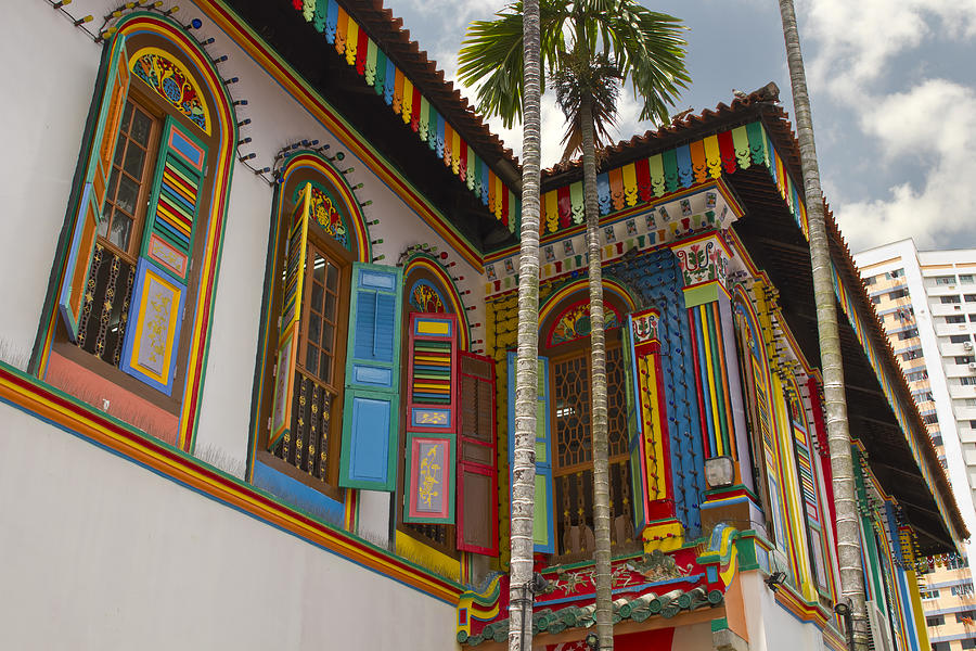 Terrace Photograph - Historic Colorful Peranakan House 2 by David Gn